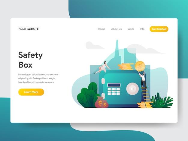 Caixa de segurança para a página do site