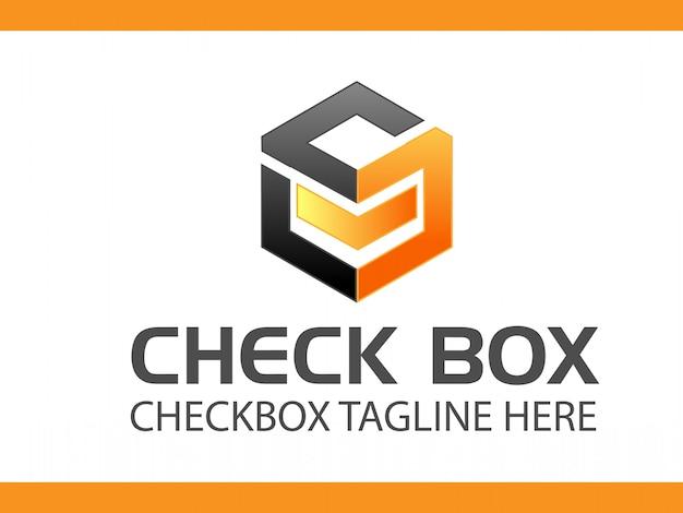 Caixa de seleção de alta qualidade logo design vector