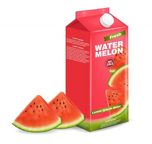 Caixa de suco de melancia