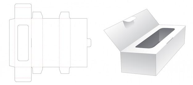 Caixa de tecido com design de modelo de aleta cortado