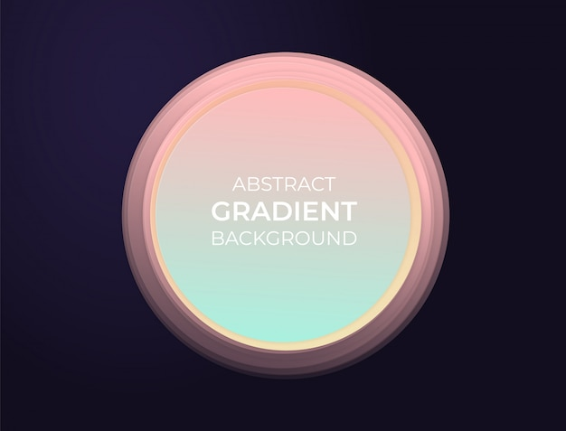Caixa de texto abstrato círculo com gradientes modernos suaves e efeito 3d. ilustração de fundo.