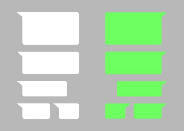 Caixa de texto de bate-papo vazio modelo de mensagens interface dialig tela de comunicação móvel com balões