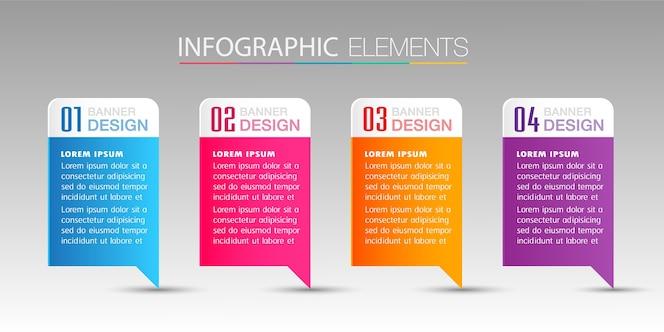Caixa de texto moderno banner infográficos