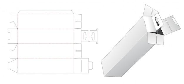 Caixa de varejo alta com modelo de corte e vinco de furo pendurado