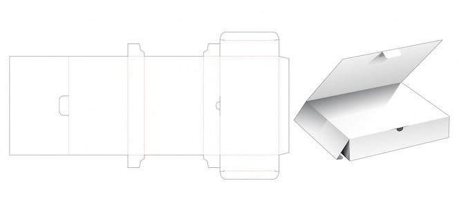 Caixa de varejo com aba superior cortada modelo