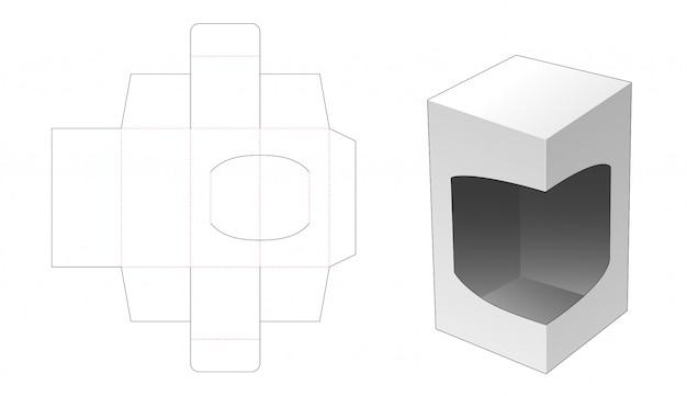 Caixa de varejo de 1 peça com design de modelo de corte e suporte