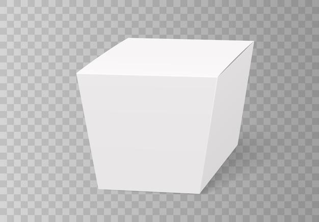 Caixa de wok, recipiente de comida em branco. saco vazio para refeição chinesa, macarrão ou visualização 3d de fast food.