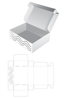 Caixa dobrável com molde oculto de onda estampada e recortada