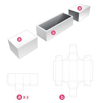 Caixa e 2 modelos de corte e vinco