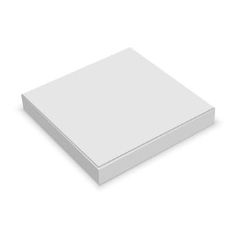 Caixa em branco branco realista