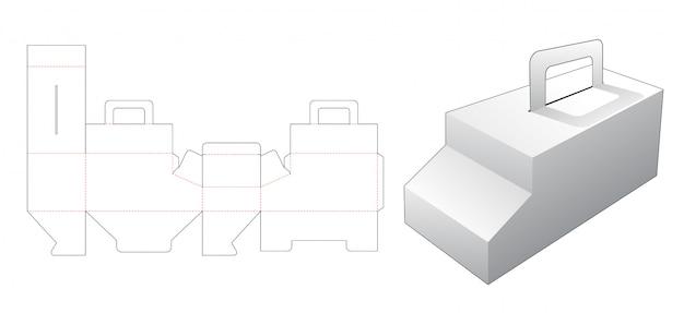 Caixa em forma de carro com suporte modelo de corte
