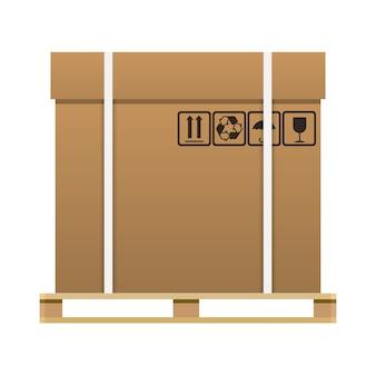 Caixa fechada marrom grande da entrega da caixa