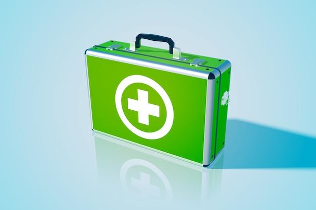 Caixa médica fechada realística