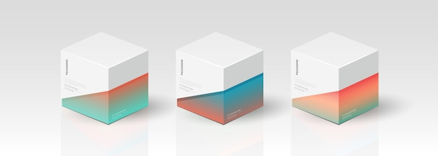 Caixa, modelo de embalagem para design de vetor de produto, ilustração vetorial