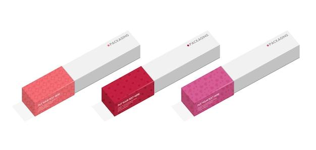 Caixa, modelo de embalagem para ilustração de desenho vetorial de produto.