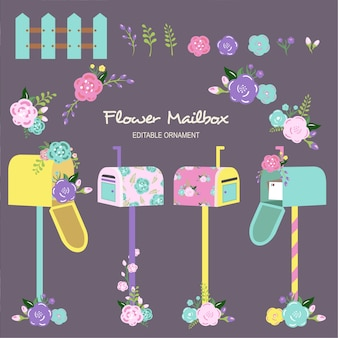 Caixa postal da flor