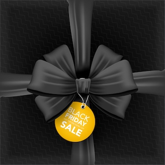 Caixa preta de venda sexta-feira com fita vista de cima