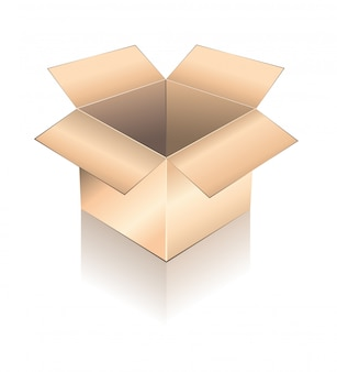 Caixa tridimensional com sombra