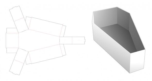 Caixão, dado forma, lanche, recipiente, corte molde