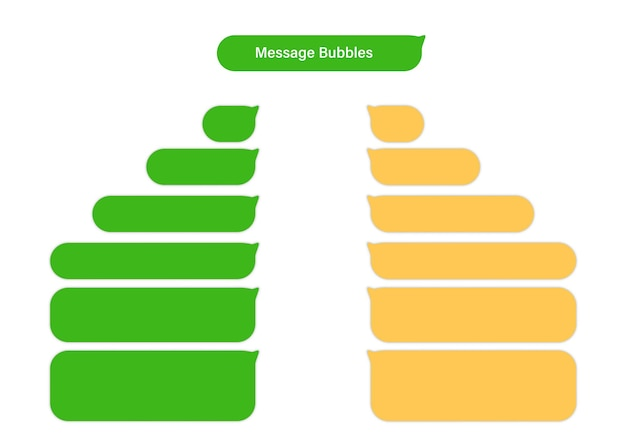 Caixas de bate-papo das bolhas da mensagem do smartphone. design plano