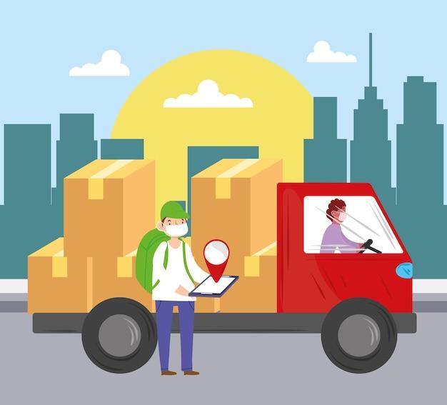 Caixas de entregadores