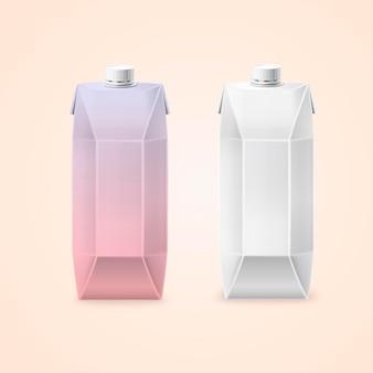 Caixas de papelão para bebidas, ilustração 3d