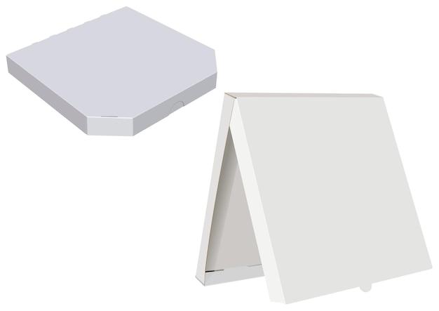 Caixas de pizza de papel branco