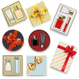 Caixas de presente com perfumaria