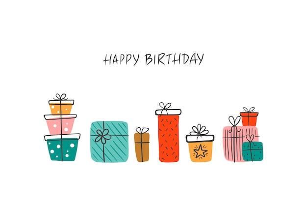 Caixas de presente de aniversário