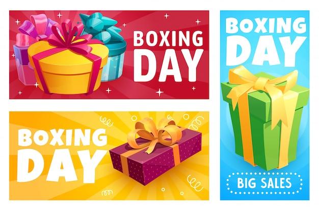 Caixas de presente de boxing day, venda de presentes de natal