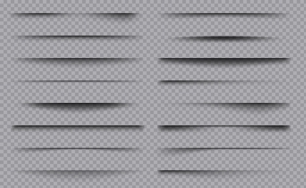 Caixas de quadro de decoração de divisores de sobreposição quadrada com coleção de modelo de sombras.