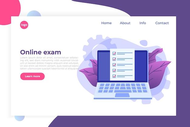 Caixas de seleção na tela do computador. exame online, conceito de quiz de internet.
