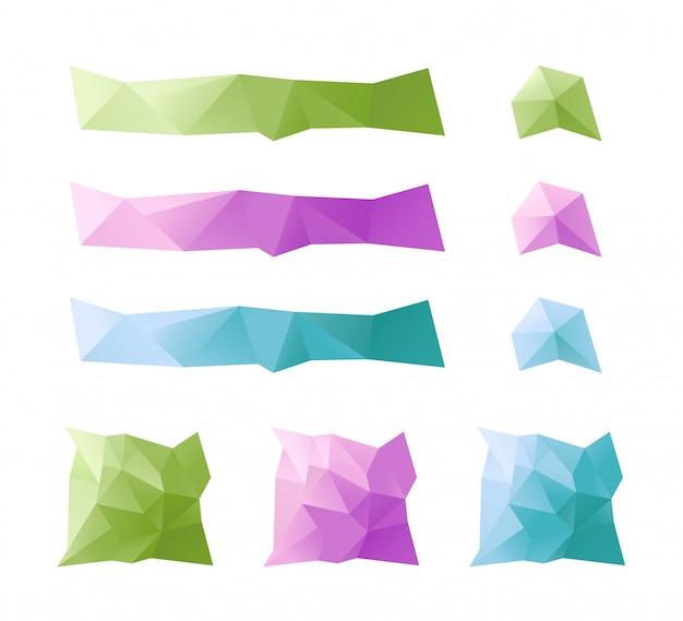 Caixas de texto de triângulo geométricas abstratas