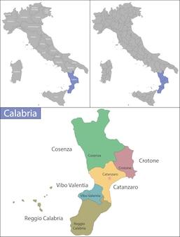 Calábria é uma região no sul da itália