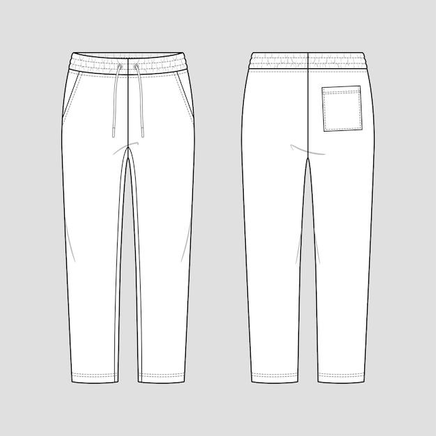 Calça de moletom com elástico na cintura com cordão e estilo descontraído.