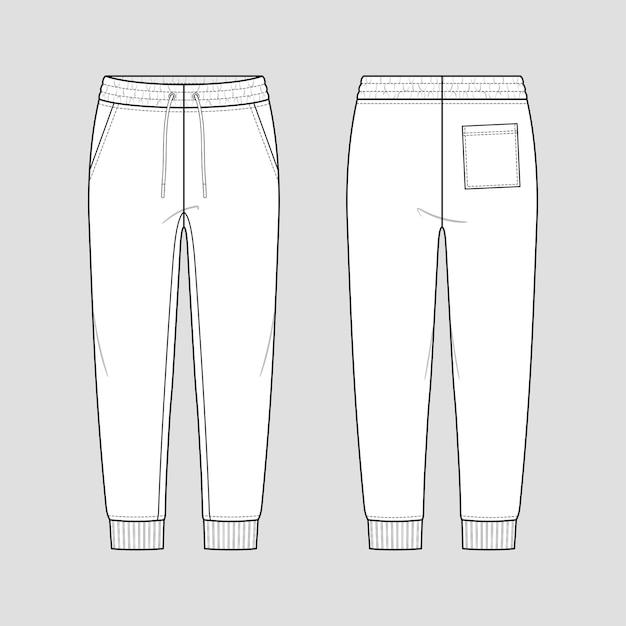 Calça moletom com elástico na cintura com cordão e estilo descontraído.