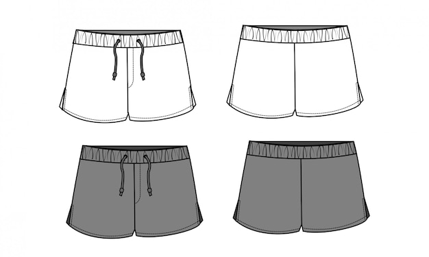 Calças curtas modelo de sketch liso