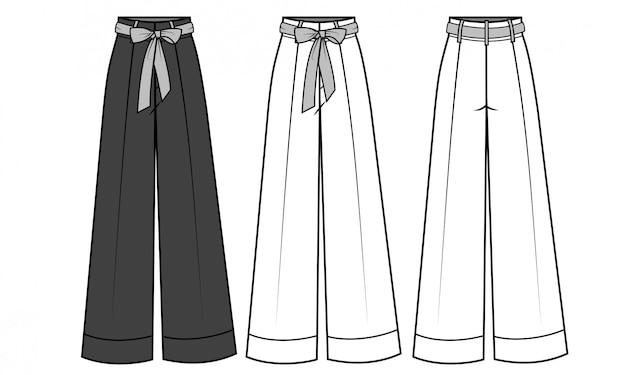 Calças para senhoras moda modelo plano