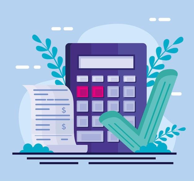 Calculadora com ícones de pagamento