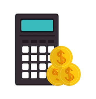 Calculadora de ícone e-commerce design