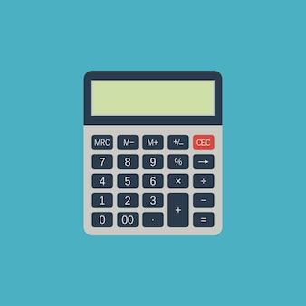 Calculadora. dispositivo elétrico para calcular números. ilustração vetorial em estilo simples.