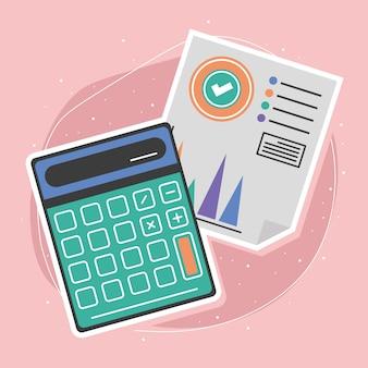 Calculadora e relatório financeiro