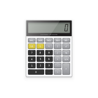 Calculadora eletrônica branca