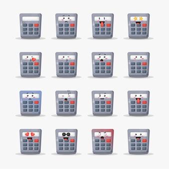 Calculadora fofa com conjunto de emoticons