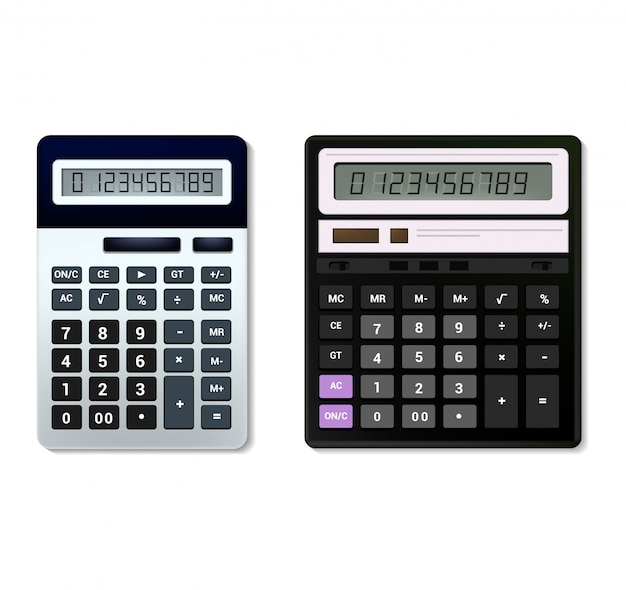 Calculadora vetor negócios contabilidade tecnologia de cálculo