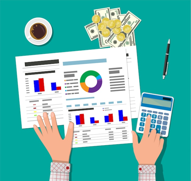 Cálculos financeiros. processo de trabalho