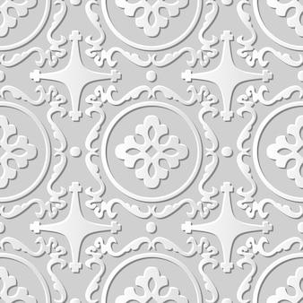 Caleidoscópio espiral redondo de arte em papel damasco 3d sem costura