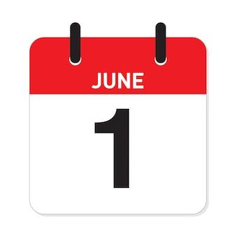 Calendário 1 de junho