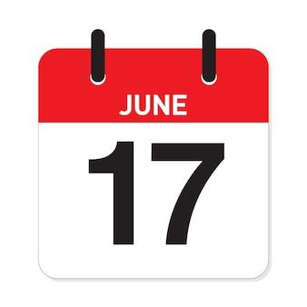 Calendário 17 de junho