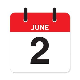 Calendário 2 de junho